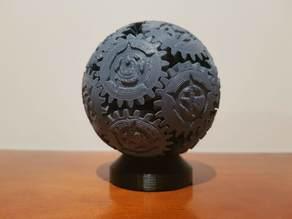 Screwless Gear Sphere w/ Custom Logo v2