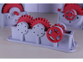 Industrial Spur Gearbox / Gear Reducer (Cutaway version)