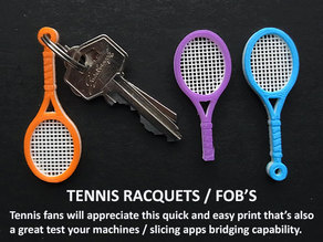 Tennis Racquet Key FOB