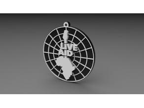 Ciondolo portachiavi Live Aid keychain