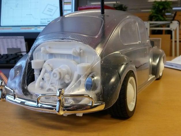 1-10 scale Tamiya R/C Volkswagen Beetle Engine by vw83gti - Thingiverse