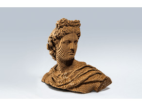 Apollo Bust - laser cut sculpture