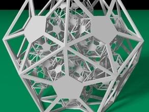 Recursive Dodecahedral Frame
