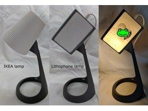Lithophane lamp shade for IKEA SVALLET work lamp