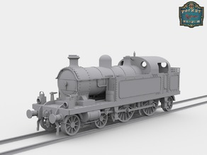 Steam Locomotive 4-4-2T 1:48 (Proto48 scale) LT&SR No.80 'Thundersley'