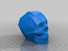 Low Poly Skull SD Card Holder