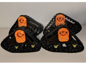 Mattracks adapters for CC-01 and TRX-4 trucks