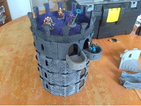 12-Sided Tower - Modular Miniature Terrain