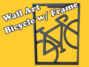 Wall Art, Bicycle with Frame