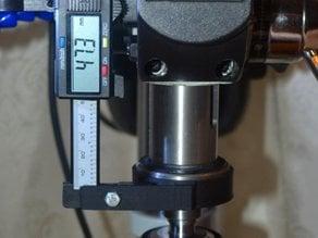 Drill press caliper mount (poor mans DRO)