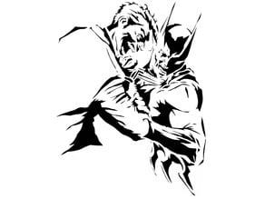Batman and Joker stencil