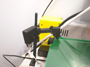 Adjustable Raspberry Pi & Camera mounting solution for Prusa i3 (and Air 2) with 90deg elbow