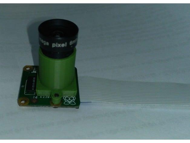 M12 Lens Mount for Raspberry Pi Camera by pwnsauce1