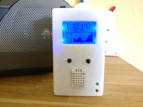 Temperature and Humidity Monitor w/ Graphing - 5110 Display - DHT22