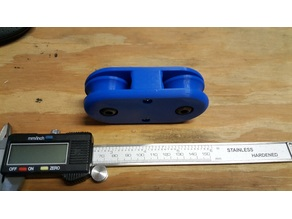 2 sheave wheel pulley balance block