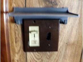 Switch/outlet shelf universal no-screws