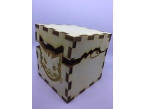 Lasercut cat & mouse box - Boite chat & souris découpe laser