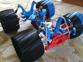 4wd, articulating and skid steering RC Car