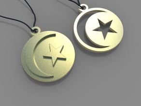 Moon & Star pendants