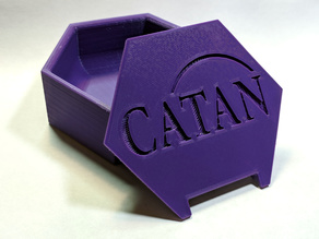 Catan Player Pieces Hex Storage Box