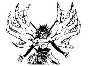 Sasuke Uchiha stencil