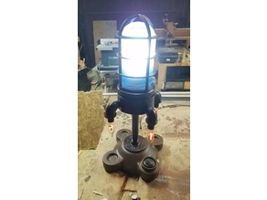 Antique Rocket Lamp Base