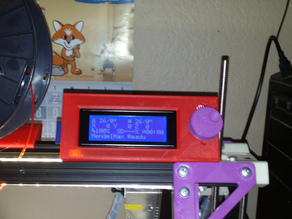 MendelMax RepRapDiscount Smart LCD Controller - Top Rail Mount