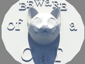 """Beware of a Cat """"door sign"""""""
