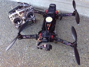 AntiVibration mounting system for larger quadcopters