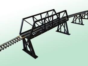 HO Bridge with trestles