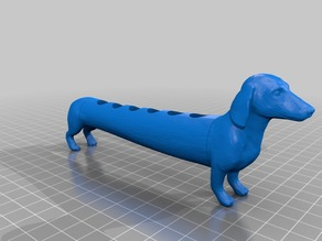 Dachshund eppendorf tube holder
