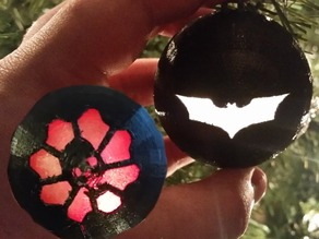 Light Up Ornaments (Batman & Gears of War)
