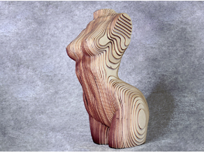 Sliced Woman Torso - DIY Plywood Craft