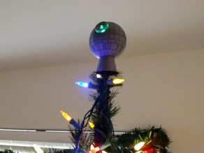 Lighted Death Star Christmas Tree Topper