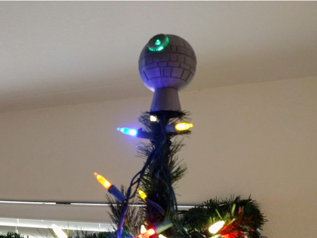 Lighted Death Star Christmas Tree Topper By DracusMage