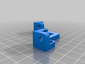 3D printer case with Ikea Lack Table with natural wood feet.