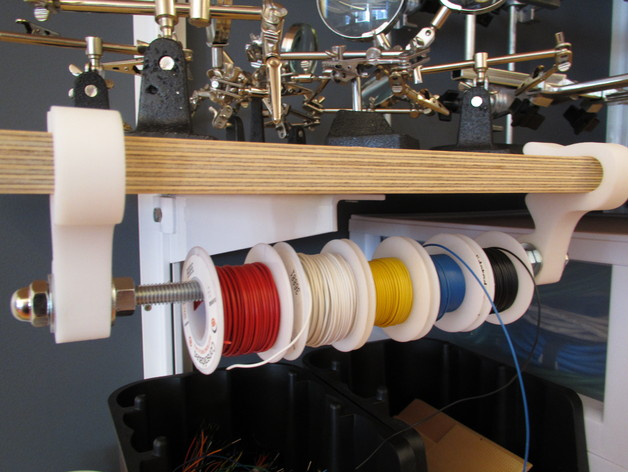 Wire Spool Holder By Electricslim Thingiverse