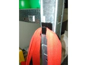 Customizable hook for metal plug shelf