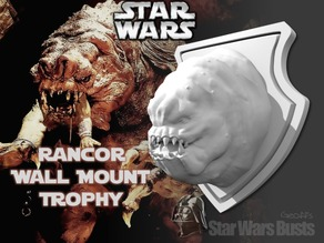Rancor Head Wall Trophy