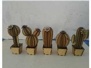 cactus 3d printed and lasercut