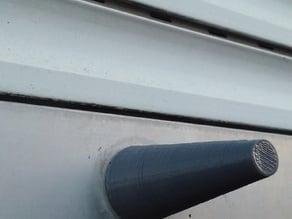 Window rolling shutter shades stopper (screw model)