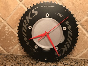Chainring clock for 5x130mm aero time trial chainring