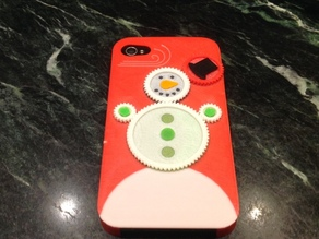 Iphone 4s Christmas Snowman Gear Case