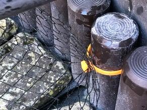 Net hook for plastic border surround