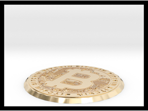 Bitcoin Coin & Coaster ( one sided )