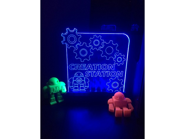 LED Base for Acrylic Edge Lit Sign by rifraf650 - Thingiverse
