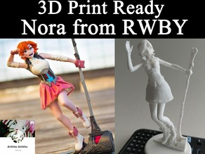 3D PRINT READY!! Nora from RWBY