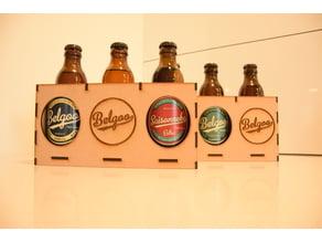Lasercut (3mm) Belgian Beer Bottle holder for gift