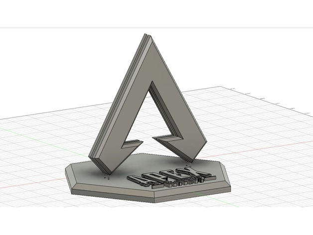 Apex Legends 3D Logo Stand by Dr0Heaven - Thingiverse