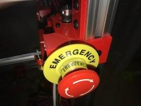 Emergency Stop Push Button Holder for Hypercube Evolution
